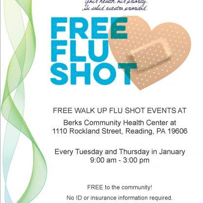 FREE Flu Shots at Berks Community Health Center